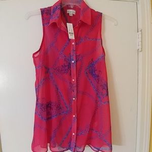 NWT SWEET PEA By Stacy Frati Tunic Top M